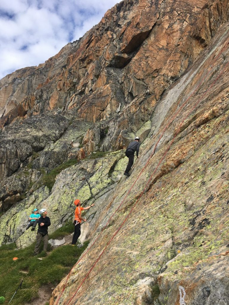Climbing the Weissmies