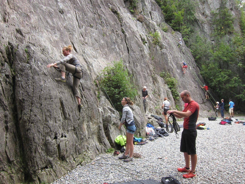 Les Gaillands Rock Climbing Area Chamonix Vertical