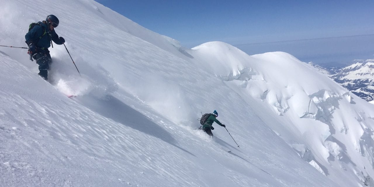 Perfect conditions for a Heli-Ski Mont Blanc