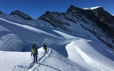Autumn mountaineering on the Allalinhorn